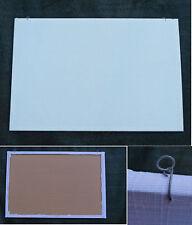 tableau d'affichage présentoir bijoux broches etc. liège tissu blanc 40 x 60 cm