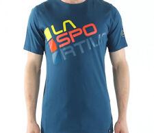 La Sportiva Square Tee (M) Ocean / Sulphur