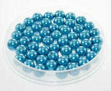Lot 10 Perle imitation 10mm Bleu perle de culture, creation Bijoux, Collier,