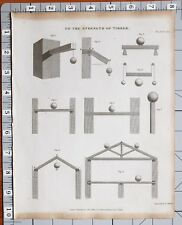 1826 PRINT ARCHITECTURE STRENGTH OF TIMBER