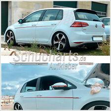 SEITENSTREIFEN EMBLEM AUFKLEBER VW Golf 6/7 VI/VII  GTD GTI GTE G R MK BELTLINE