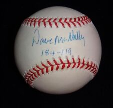 SIGNED BASEBALL DAVE MCNALLY 1966 1970 ORIOLES WS CHAMPION 4X 20 WIN BECKETT BAS