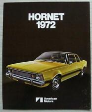 AMERICAN MOTORS AMC HORNET USA Car Sales Brochure 1972 #AMX 7203