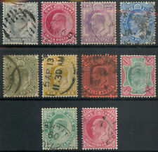 India 1902 Edward VII selection inc. 6a & 12a used *COMBINED SHIPPING*