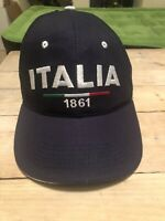 Italia 1861 Embroidered Baseball Cap Hat Cotton Blue OSFM Strap Back