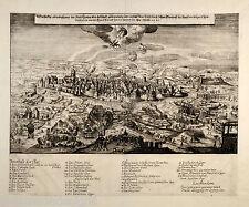 LEIPZIG Orig Kupferstich 1645 Wolfgang Endter Schmalkaldischer Krieg Belagerung