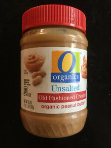 8 plastic jars  Organic Unsalted  Peanut Butter  18-ounce each 2/22 or later
