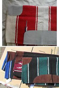 """Navajo-Decke Baumwolle  mit Lederbesätzen Viele Design  Warmblut (60"""" x 30"""") NEU"""