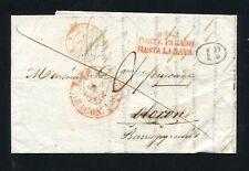1843 SPAIN PREPHILATELIC COVER ZARAGOZA TO OLERON
