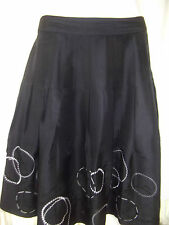 ALFANI Petite Womens Black Silk Sequin Skirt size 12