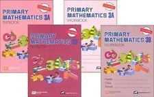Primary Mathematics 3A and 3B SET Textbooks & Workbooks - U.S. Edition - NEW