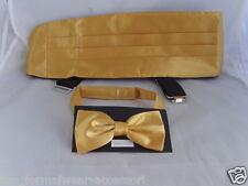 Brillantes de neón de oro amarillo de poliéster Cummerbund y Bow Tie set-in más de 60 Colores