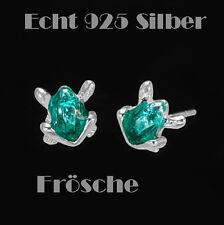 Frosch Ohrstecker Ohrringe 925 Sterling Silber Schmuck Damen Kinder Ohr Frösche
