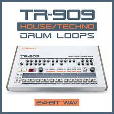TR-909 House Techno Drum Loops (24-bit WAV) Ableton Live Logic Pro Tools Cubase