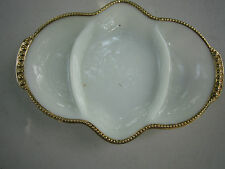 Vintage ANCHOR HAWKING Fire-King Ware 3-Section Serving Dish! Tray USA milkglass