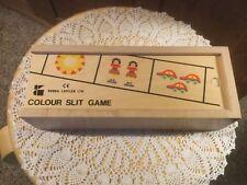 Doron Layeled Ltd. Colour Slit Wooden Game Teaches Color & Cognitive Development
