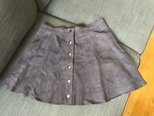Bagatelle Suede Leather Skirt M