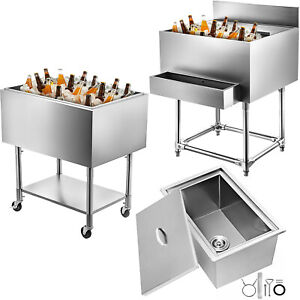 Drop In Ice Chest Bin 7 Sizes Cold Drinks Box Insulated Wall Ice Box Outdoor