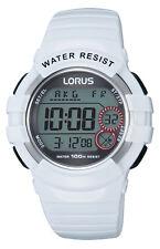 Lorus R2319KX-9 Men's Sport White Silicone Watch WR 42mm 10 ATM RRP$75