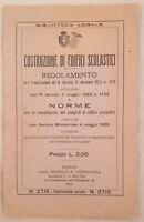 COSTRUZIONE DI EDIFICI SCOLASTICI SCUOLA SCHOOL ARCHITETTURA INGEGNERIA 1928