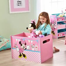 MINNIE MOUSE PINK TOY BOX CHILDRENS BEDROOM TOY STORAGE BOX FREE P+P 474INN