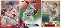 Clay Buchholz lot of 3 different Boston Red Sox baseball cards