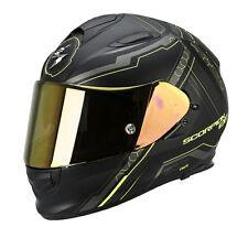 Scorpion EXO 510 Air Sync Matt Black and Yellow Motorcycle Motorbike Helmet