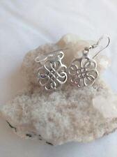 Celtic Knot Clover Hook Earrings 925 Sterling Silver