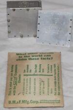 """2x SeeZak Expandable Chassis 2"""" x 2"""" x 7/8"""" Vintage Alum. Modular Project Boxes"""
