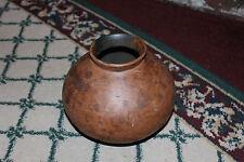 Stunning Primitive Pottery Bulbous Shape Vase Bowl-Unusual Design & Texture