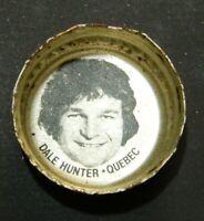 Vintage 1980-81 Pepsi Cola Hockey Caps Dale Hunter (Rookie) - Quebec Nordiques