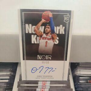 2020-21 Panini Noir Obi Toppin Auto Autograph Rookie RC /99 New York Knicks