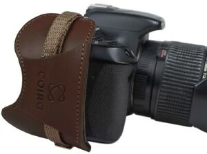 Camera Hand Grip Strap Leather Secure Grip Padded Wrist Strap for DSLR/SLR Brown