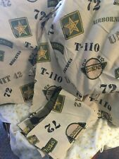 Military Special Forces Camo Twin Flat Fitted Pillowcase Sheet Set Rare