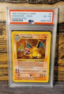 1999 Charizard Base Set Shadowless Psa 4 VG-EX Pokemon Card