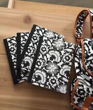 Floral School Notebooks Black & White floral windsor pattern set of 4 - u color