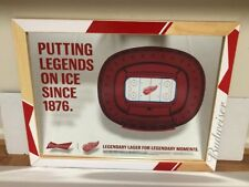 Budweiser Detroit Red Wing 3 dimensional rink mirror NEW hockey rink 3D