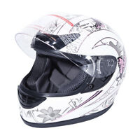 DOT Adult Butterfly Flip Up Full Face Motor Street Dirt Bike ATV Helmet S M L XL