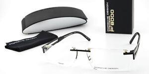 Porsche Design Glasses P8173 S1 E 54-15 145 Titanium Angular Rimless Black Japan