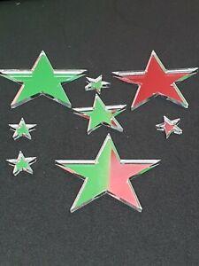 Shatterproof Acrylic Perspex Star Shape Mirror 3mm Thick Embellishment craft