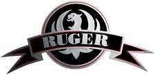 Ruger Vinyl Decal Sticker For Gun / Rifle / Case / Gun Safe / Car / R15 SILVER