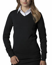 Cotton Blend V Neck Thin Knit Jumpers & Cardigans for Women