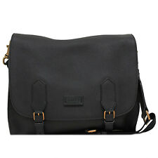 GUCCI Men's Black Leather Messenger Bag 374249