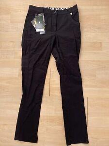 NWT Golfino Ladies 7/8 Slim Golf Trousers Safari 2261322 890 Black Sz 6 NEW