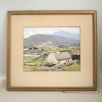 Maurice Canning Wilks Watercolor Connemara County Galway Irish Impressionist 50s