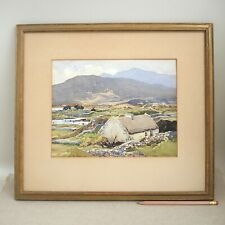 Maurice Canning Wilks Watercolor Connemara County Galway Irish Impressionist 50s
