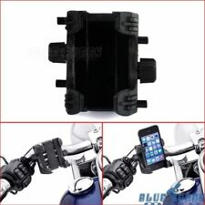 Black Motorcycle Handlebars Cell Phone GPS Mount Clamp Holder For Harley Softail