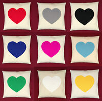 Cream Heart Cushion Cover Black Red Pink Blue Green Shabby Chic 14 16 18 20 inch