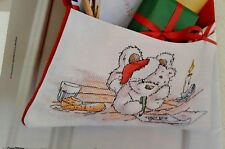 Christmas cross stitch chart - Lickle Ted - Dear Santa - from a magazine