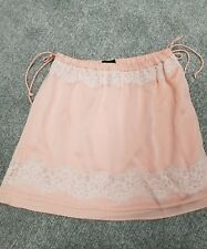 NWT Womens Banana republic BR Lingerie Inspired Pink Lace Silk Skirt XS